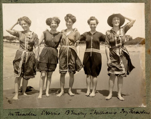1980 37 Women in bathing suits on Collaroy Beach, 1908,  photographed by Colin Caird