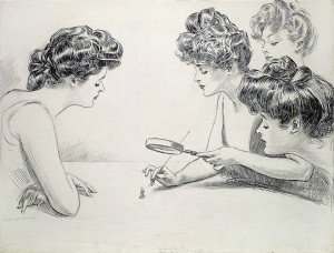 GG-Gibson_Girls_Magnifying_Glass_by_Charles_Dana_Gibson